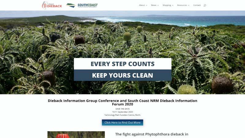 Project Dieback Website Screenshot