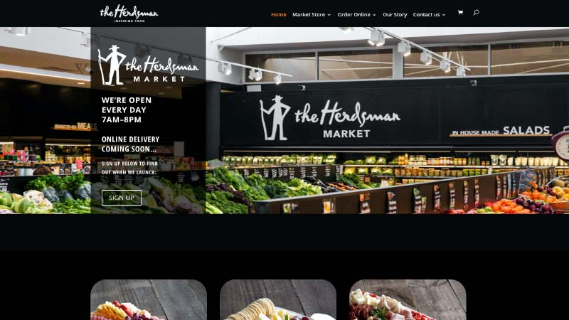 The Herdsman Website Screenshot