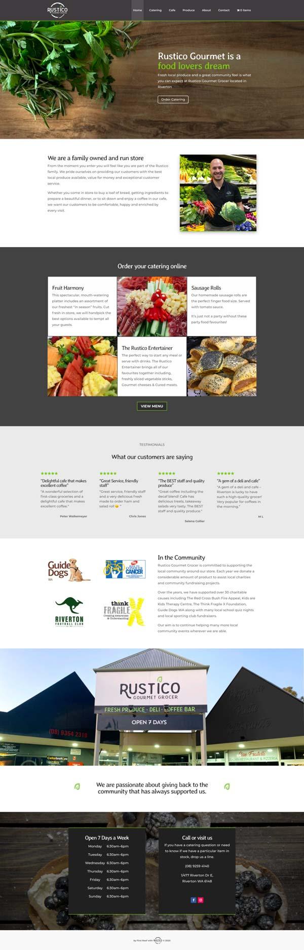 Full page screenshot of Rustico Gourmet